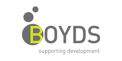 Boyds logo 'Supporting development'